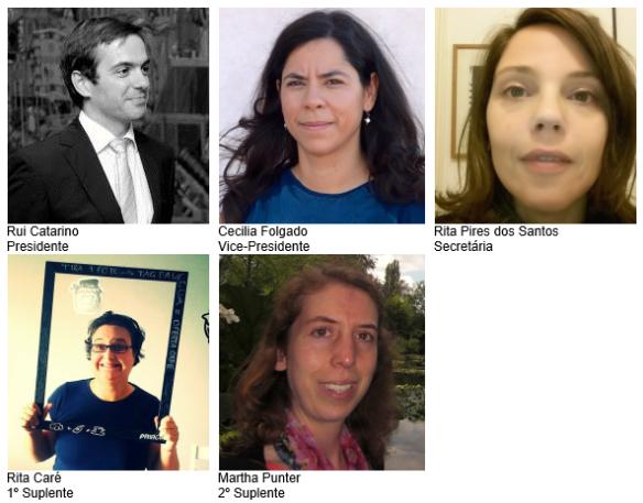Fotos dos membros da Mesa da Assembleia-Geral