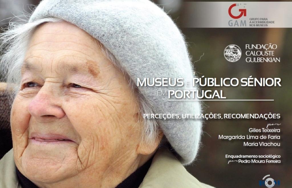 """Capa da publicação """"Museus e Público Sénior em Portugal"""""""