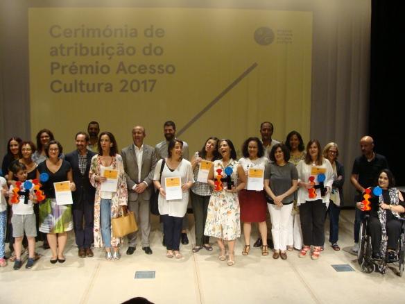 Os vencedores do Prémio Acesso Cultura 2017