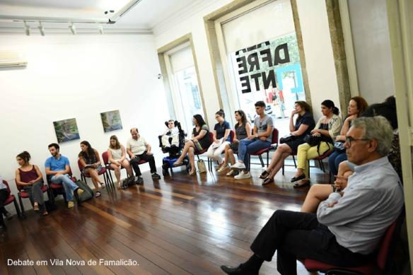 Imagem de debate em Vila Nova de Famalicão